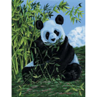 """Paint By Number Kit Artist Canvas Series 9""""X12""""-Panda"""