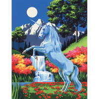 """Paint By Number Kit Artist Canvas Series 9""""X12""""-Unicorn"""