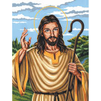 """Paint By Number Kit Artist Canvas Series 9""""X12""""-The Good Shepherd"""