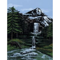 """Paint By Number Kit Artist Canvas Series 9""""X12""""-Mountain Waterfall"""