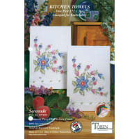"""Tobin Stamped For Embroidery Kitchen Towels 17""""X30"""" 2/Pkg-Serenade"""