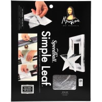 "Mona Lisa Simple Leaf Metal Sheets 5.5""X5.5"" 18/Pkg-Silver"