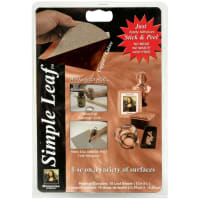 "Mona Lisa Simple Leaf Metal Sheets 5.5""X5.5"" 18/Pkg-Copper"