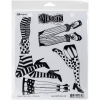 "Dyan Reaveley's Dylusions Cling Stamp Collections 8.5""X7""-Daddy Long Legs"