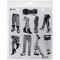 "Dyan Reaveley's Dylusions Cling Stamp Collections 8.5""X7""-Legs Eleven"