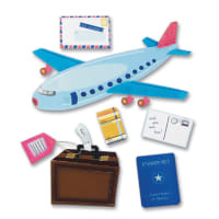 Jolee's Boutique Dimensional Stickers-Airplane Travel