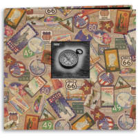 "Pioneer Travel Post Bound Album 12""X12""-Travel Stickers"