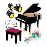 Jolee's Boutique Dimensional Stickers-Piano Recital