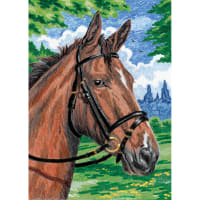 "Mini Color Pencil By Number Kit 5""X7""-Horse"