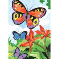 """Mini Color Pencil By Number Kit 5""""X7""""-Bright Butterflies"""