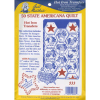 Aunt Martha's Iron-On Transfer Collection-50 State Americana Quilt