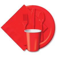 "Luncheon Plates 7"" 24/Pkg-Classic Red"