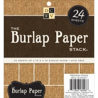 "DCWV Single-Sided Specialty Stack 6""X6"" 24/Pkg-Burlap, 6 Designs/4 Each"