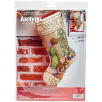 "Janlynn Stocking Counted Cross Stitch Kit 18"" Long-Christmas Morning (14 Count)"