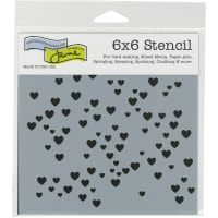 """Crafter's Workshop Template 6""""X6""""-Micro Heart"""