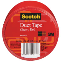 "Scotch Solid Duct Tape 1.88""X20yd-Cherry Red"