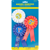 """Award Ribbons 6"""" 3/Pkg-1st, 2nd & 3rd Place"""