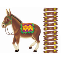 Pin The Tail On The Donkey Game- , Pack of 6