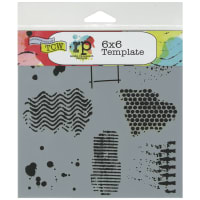 """Crafter's Workshop Template 6""""X6""""-Texturized"""