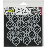"""Crafter's Workshop Template 6""""X6""""-Art Deco Leaves"""