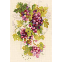"""RIOLIS Counted Cross Stitch Kit 8.25""""X11.75""""-Grapevine (14 Count)"""