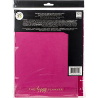 "Happy Planner Medium Snap-In Hard Planner Cover 9.75""X7.75""-Pink Happy Life"