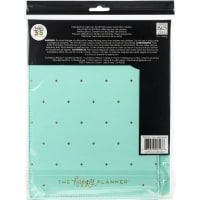 "Happy Planner Medium Snap-In Hard Planner Cover 9.75""X7.75""-Turquoise W/Gold Dots"