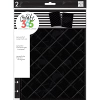 "Happy Planner Medium Snap-In Hard Planner Cover 9.75""X7.75""-Black Quilted"