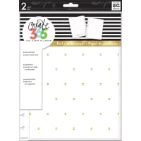 "Happy Planner Medium Snap-In Hard Planner Cover 9.75""X7.75""-White W/Gold Dots"