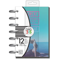 "Happy Planner 12-Month Undated Mini Planner 5.125""X7.5""-Sweat Smile Repeat"