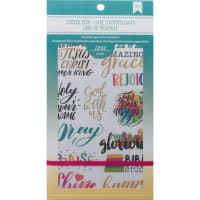 "American Crafts Planner Stickers 12-Page Book 4.75""X9""-Faith"