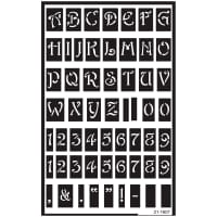 "Over 'N' Over Reusable Stencils 5""X8""-Large Alphabet"