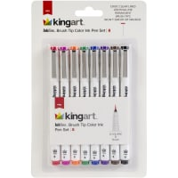 Inkline Brush Tip Color Ink Pen Set 8/Pkg-Assorted Colors