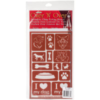 "Over 'N' Over Reusable Stencils 5""X8""-Paws"