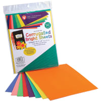 "Corrugated Sheets 8.5""X77"" 8/Pkg-Brights"