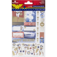 Paper House Life Organized Planner Stickers 4/Sht-Wonder Woman