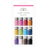 Sugar Coating Fine Glitter Assortment 5g 12/Pkg-Assorted