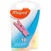 Mini Clothespin Clips 10/Pkg-Assorted