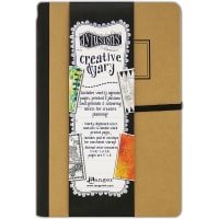 "Dyan Reaveley's Dylusions Creative Dyary 2 5""X8""-Kraft W/Black"