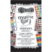 Dyan Reaveley's Dylusions Creative Dyary Sticker Book-Book 2