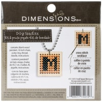 """Dimensions Wooden Counted Cross Stitch Kit 1""""-Square Monogram Pattern"""