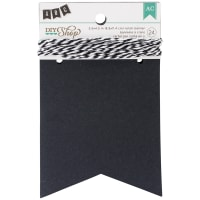 "DIY Shop Banner Kit 24/Pkg-Chalkboard Notch, 3.5""X4.5"""