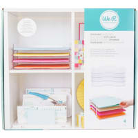 """We R Stackable Acrylic Paper Trays (Retail Packaged) 4/Pkg-Clear 12""""X12"""""""