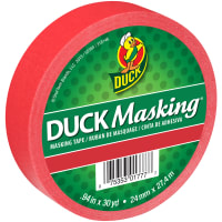 """Duck Masking Tape .94""""X30yd-Red"""