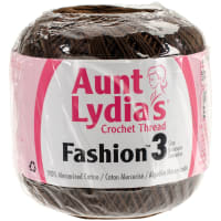 Aunt Lydia's Fashion Crochet Thread Size 3-Coffee