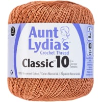 Aunt Lydia's Classic Crochet Thread Size 10-Copper Mist