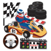 Jolee's Boutique Dimensional Stickers-Go Carts