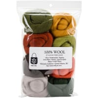 "Wistyria Editions Wool Roving 12"" .25oz 8/Pkg-Pumpkin Patch"