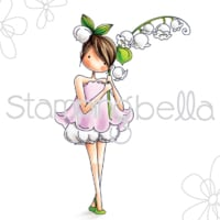 Stamping Bella Cling Stamps-Garden Girl Lily Of The Valley