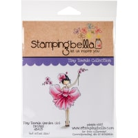 Stamping Bella Cling Stamps-Garden Girl Orchid